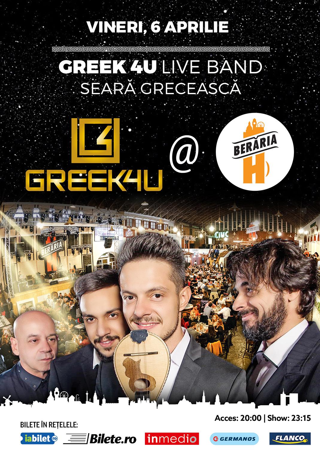 Greek 4u Live Band Seară Grecească
